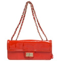 Chanel Orange Patent Leather Reissue Flap Bag