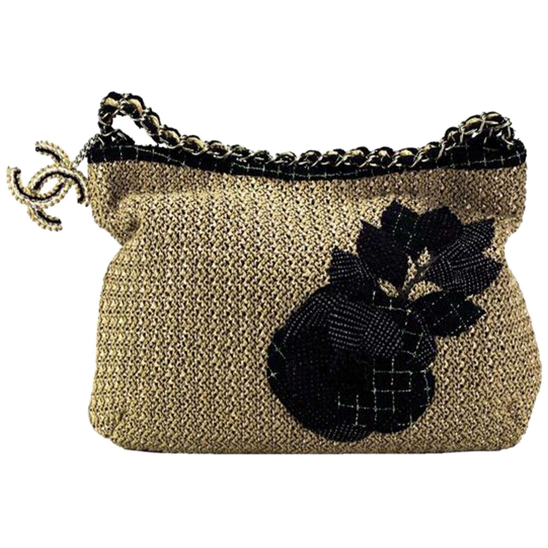 Chanel Organic Raffia Camelia Limited Edition Tote Beige Rope Shoulder Bag
