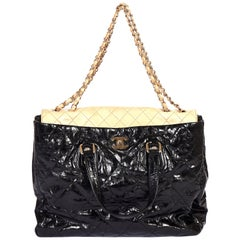 Chanel Oversize Black Beige Large Tote