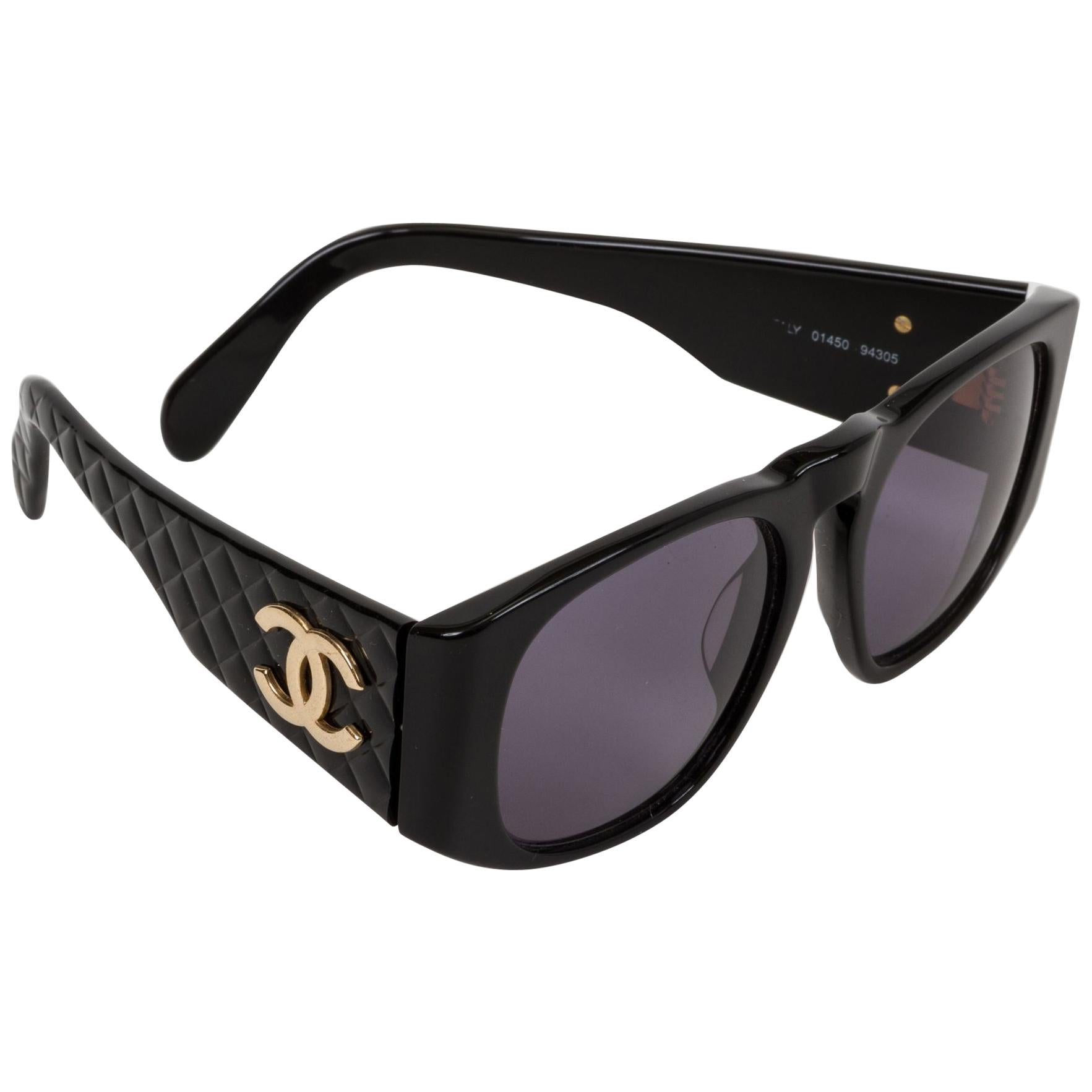 Chanel Oversize Black Quilted Glasses