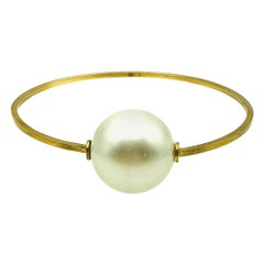 Chanel Oversize Whole Pearl Bangle 2013