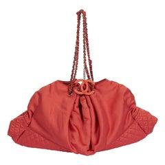 Chanel Oversized Salmon Silk Handbag