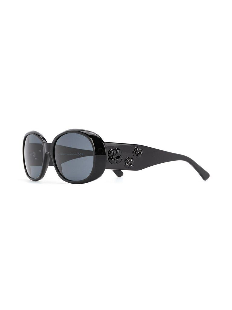 Chanel Oversized Tinted Sunglasses In Excellent Condition For Sale In London, GB