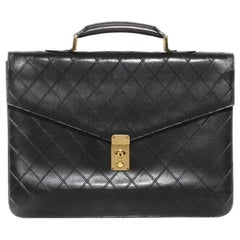 Chanel Padded Briefcase Circa 1990's