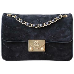 Chanel Pagoda Quilted Suede Flap Small Bag