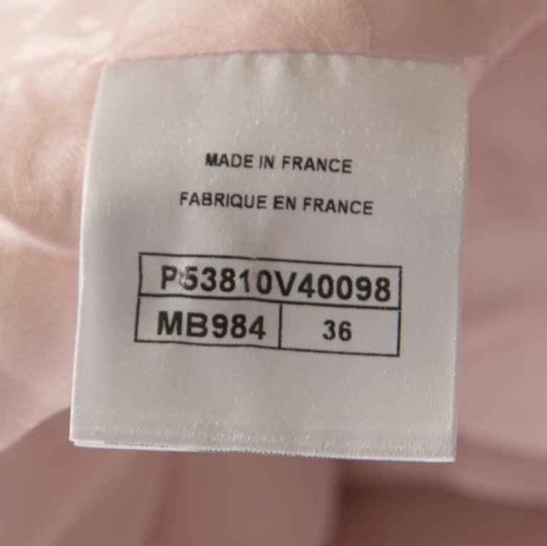 Chanel Pale Pink Lurex Insert Tweed Long Coat S In Good Condition For Sale In Dubai, Al Qouz 2