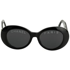 CHANEL PARIS Black Vintage Sunglasses