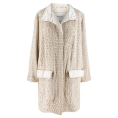 Chanel Paris-Bombay Metallic Tweed Silk & Mohair Blend Coat 48 FR