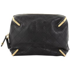 Chanel Paris Cosmopolite Zip Clutch Quilted Lambskin Small