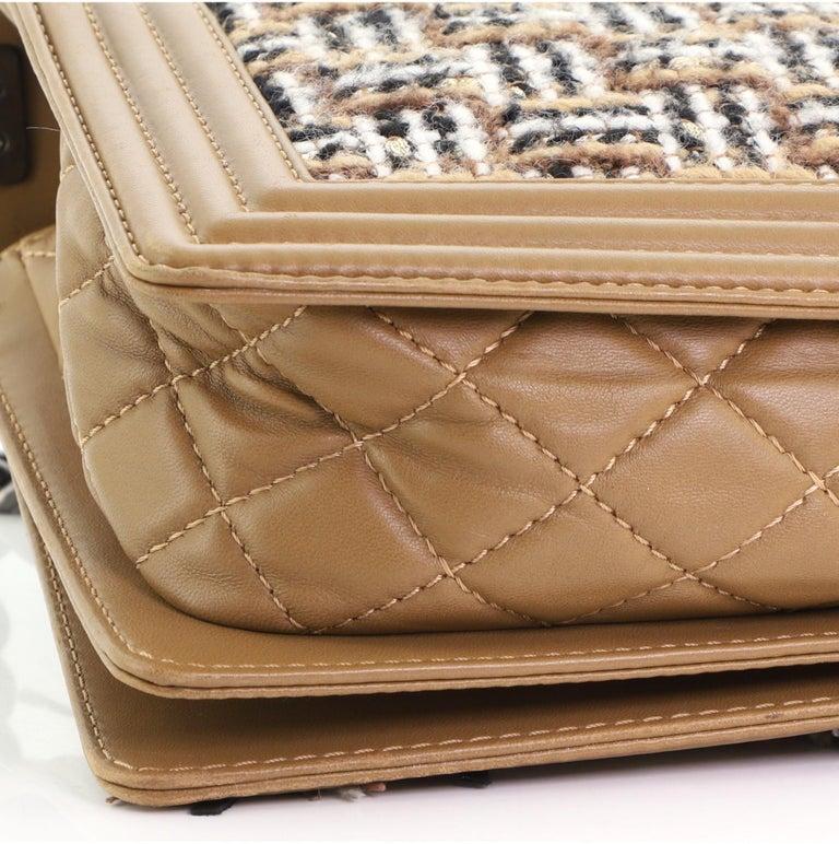 Chanel Paris-Dallas Boy Flap Bag Enchained Fringe Tweed with Calfskin New Medium For Sale 3