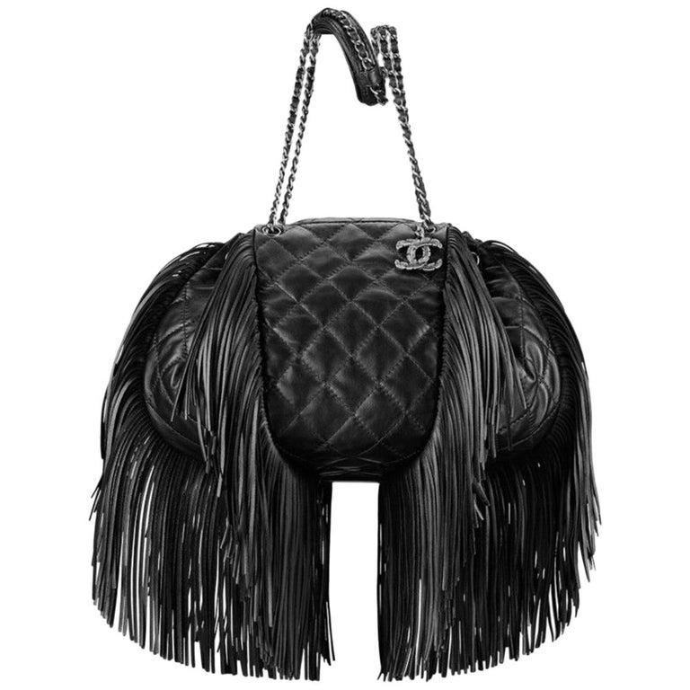 abd9450fde53 Chanel Paris-Dallas Drawstring Fringe Quilted Shoulder Bag For Sale ...