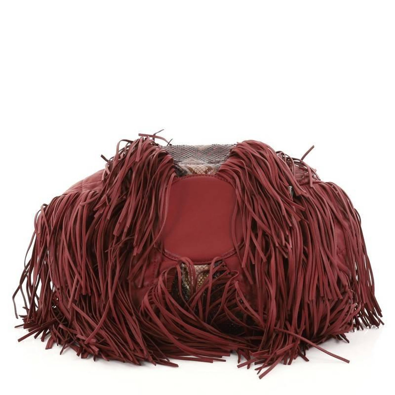 e6abb8a5992b Chanel Paris-Dallas Drawstring Fringe Shoulder Bag Python and Leather Large  at 1stdibs