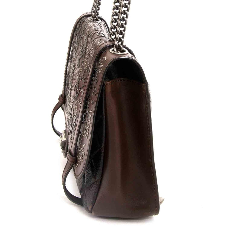 Black Chanel Paris Dallas Studded Lambskin Western Bag  For Sale