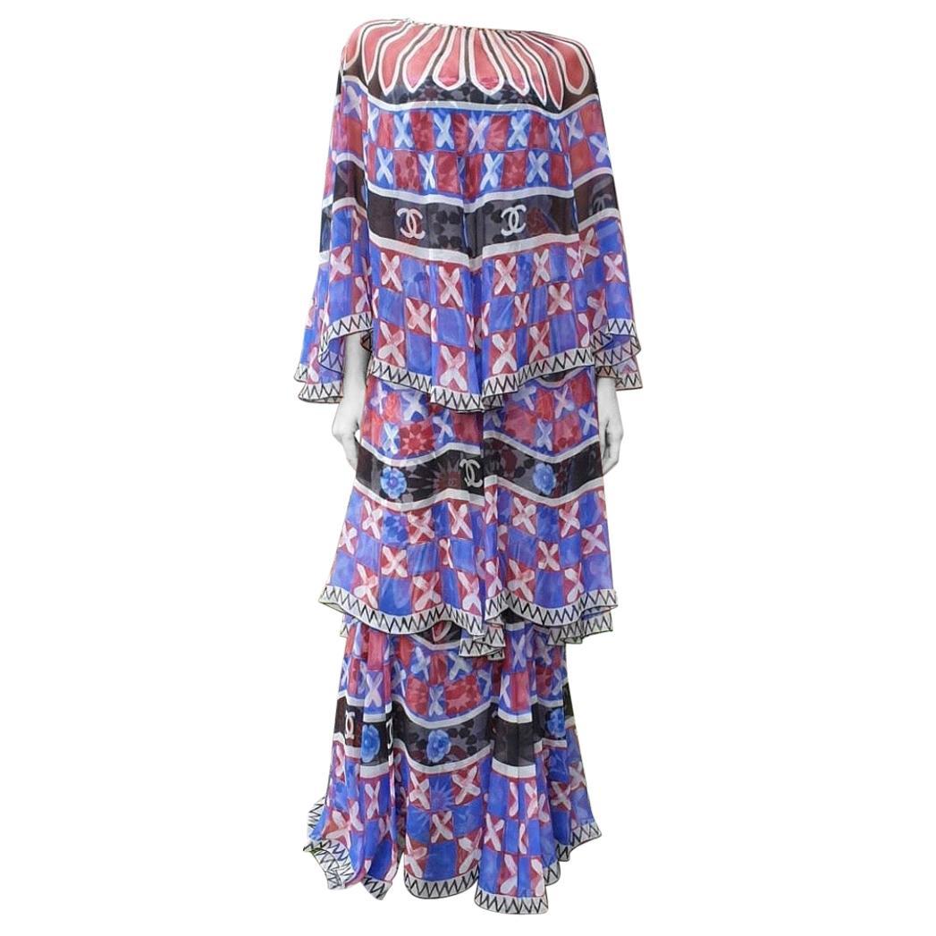 Chanel Paris Dubai Silk Maxi Dress