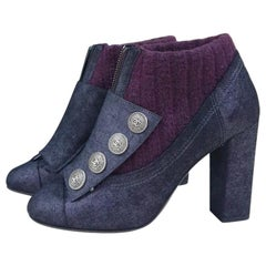 Chanel Paris Edinburgh Bordeaux Ankle Boots  Booties