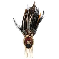 Chanel Paris Edinburgh Feather Hair Accessory