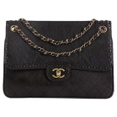 Chanel Paris-Edinburgh Flap Bag Quilted Calfskin Medium