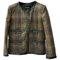Chanel Paris-Edinburgh Python-Trimmed Jacket