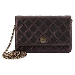 Chanel Paris-Edinburgh Wallet on Chain Quilted Iridescent Lambskin