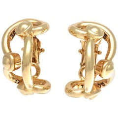 Chanel Paris Gold Clip-On Earrings