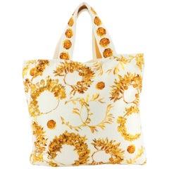 Chanel Paris-Greece Beach Bag Printed Terry Cloth Large