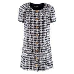 Chanel Paris/Greece Tweed Short-Sleeve Runway Mini Dress - Size US 10