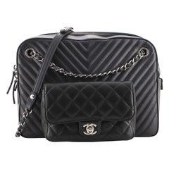 Chanel Paris-Hamburg Double Camera Case Bag Chevron and Diamond Quilted Calfskin