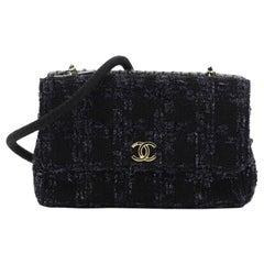 Chanel Paris-Hamburg Double Flap Bag Tweed Medium