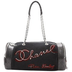 Chanel Paris-Hamburg Duffle Embroidered Wool with Quilted Calfskin