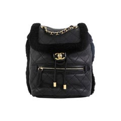 Chanel Paris-Hamburg Flap Backpack Quilted Lambskin and Shearling