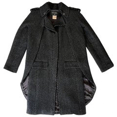 CHANEL Paris Moscow Métiers d'Art Collection Cape-Coat from  in Grey Wool