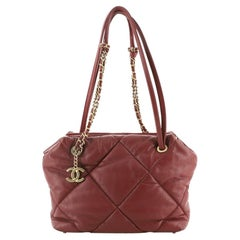Chanel Paris-New York Bowling Bag Quilted Lambskin Small