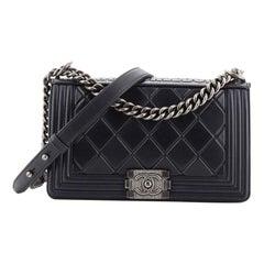 Chanel Paris-Salzburg Boy Flap Bag Embossed Calfskin Old Medium