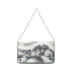 Chanel Paris-Salzburg Chain Flap Clutch Strass Embellished Wool Mini