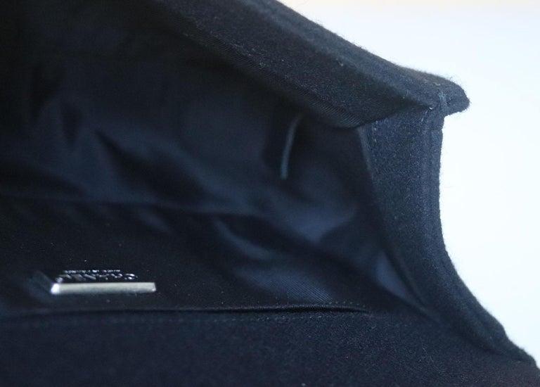 Chanel Paris-Salzburg Embroidered Quilted Felt Medium Boy Flap Bag  For Sale 4