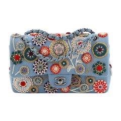 Chanel Paris-Salzburg Flap Bag Embroidered Felt Medium