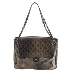 Chanel Paris-Salzburg Flap Tote Quilted Leather and Pony Hair Large