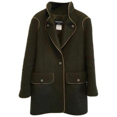 Chanel  Paris Salzburg Khaki Wool Coat