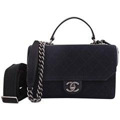 Chanel Paris-Salzburg Top Handle Bag Quilted Fabric Medium