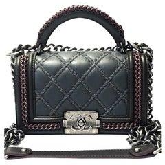 Chanel Paris-Salzburg Top Handle Small Boy - Grey