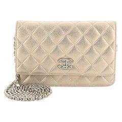 Chanel Paris-Salzburg Wallet on Chain Quilted Iridescent Calfskin