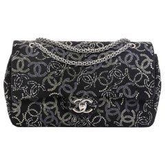Chanel Paris-Shanghai Pudong Flap Bag Strass Embellished Tweed Medium