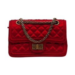 CHANEL Paris-Shanghai Red Silk Satin Bag