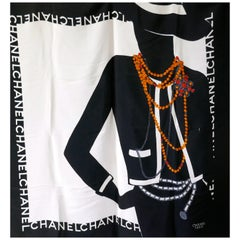 Chanel Paris Silk Scarf - Classic Chanel Black & White Blazer Design