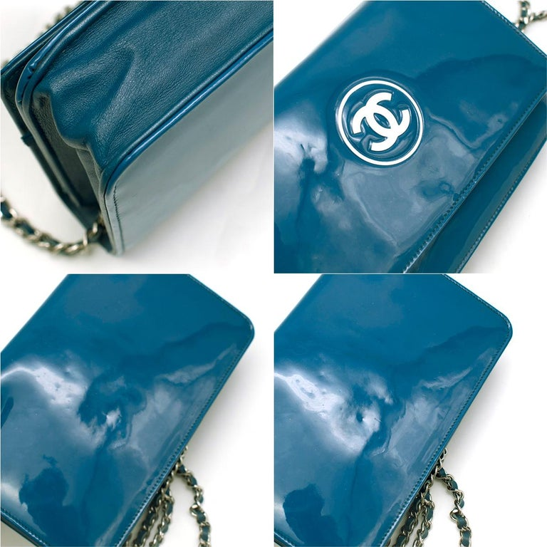 Chanel Patent Embossed CC Wallet On Chain For Sale 1