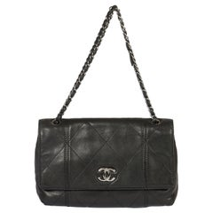 Chanel Patent Reissue Black Shoulder Bag