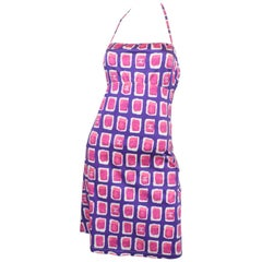 Chanel Patterned Halter Dress NWT 2001 P