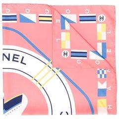 Chanel Peach 'CC Cruise' Print Scarf