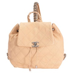 Chanel Peach Quilted Calfskin Braided with Style Backpack
