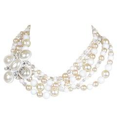 Chanel Pearl and Crystal Bead Multi Strand Choker